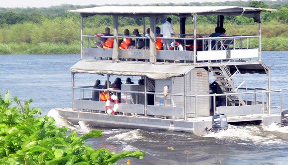 Boat cruise in Akagera National Park Rwanda