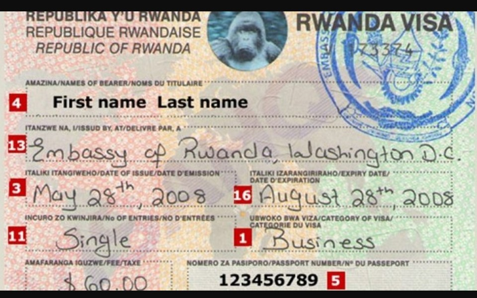 Rwandan visa is an official document that any person traveling to Rwanda has to present before he or she is accepted into the country for any given purpose. Very many visitors travel to Rwanda for various purposes including visiting friend and families,